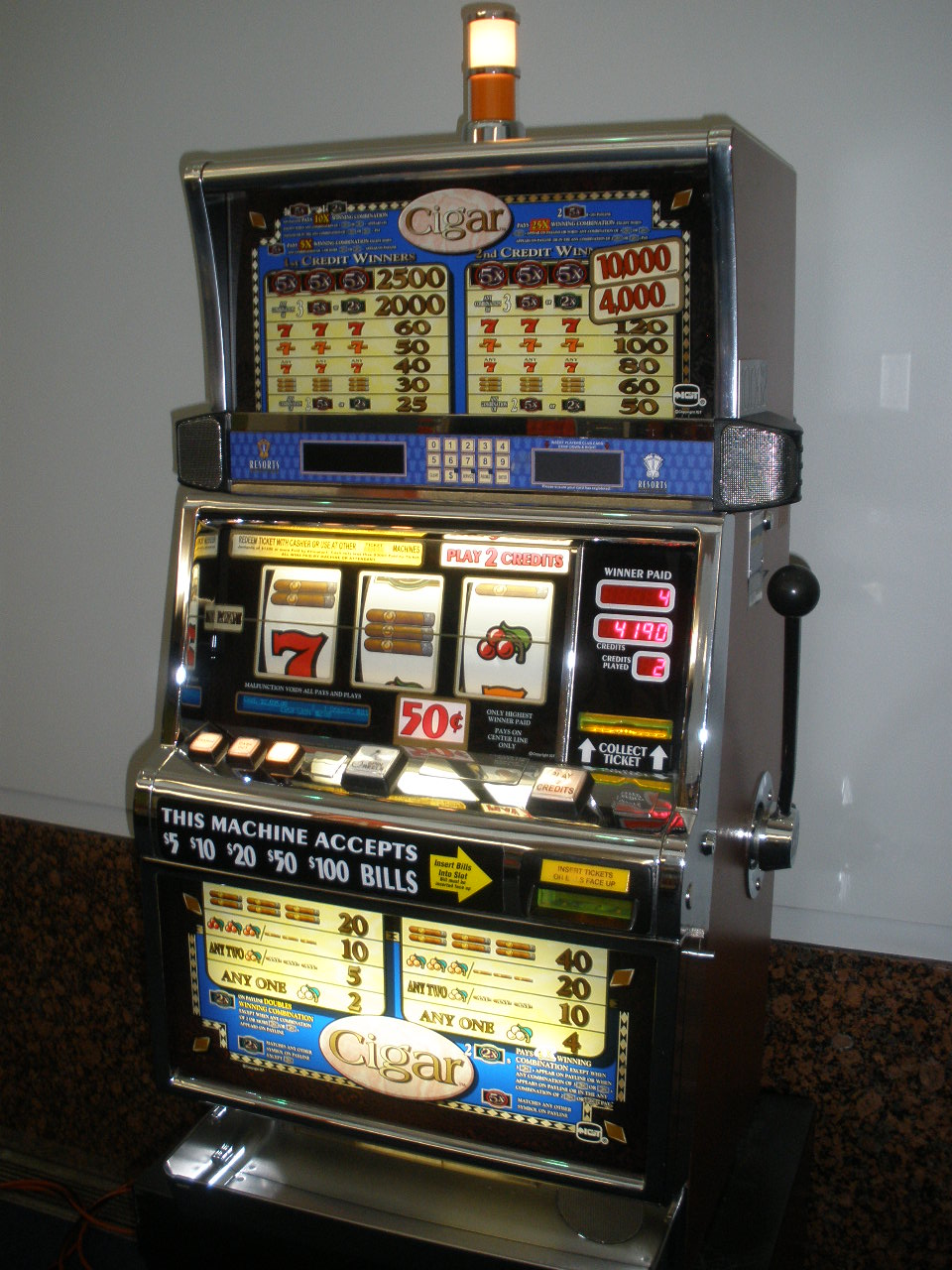 IGT CIGAR S2000 SLOT MACHINE For Sale • Gambler's Oasis USA