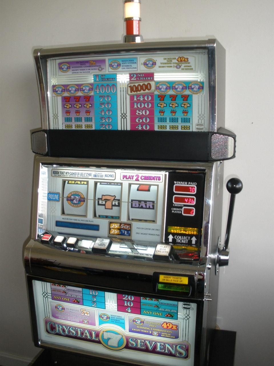 Igt Crystal Sevens S2000 Flat Top Slot Machine For Sale
