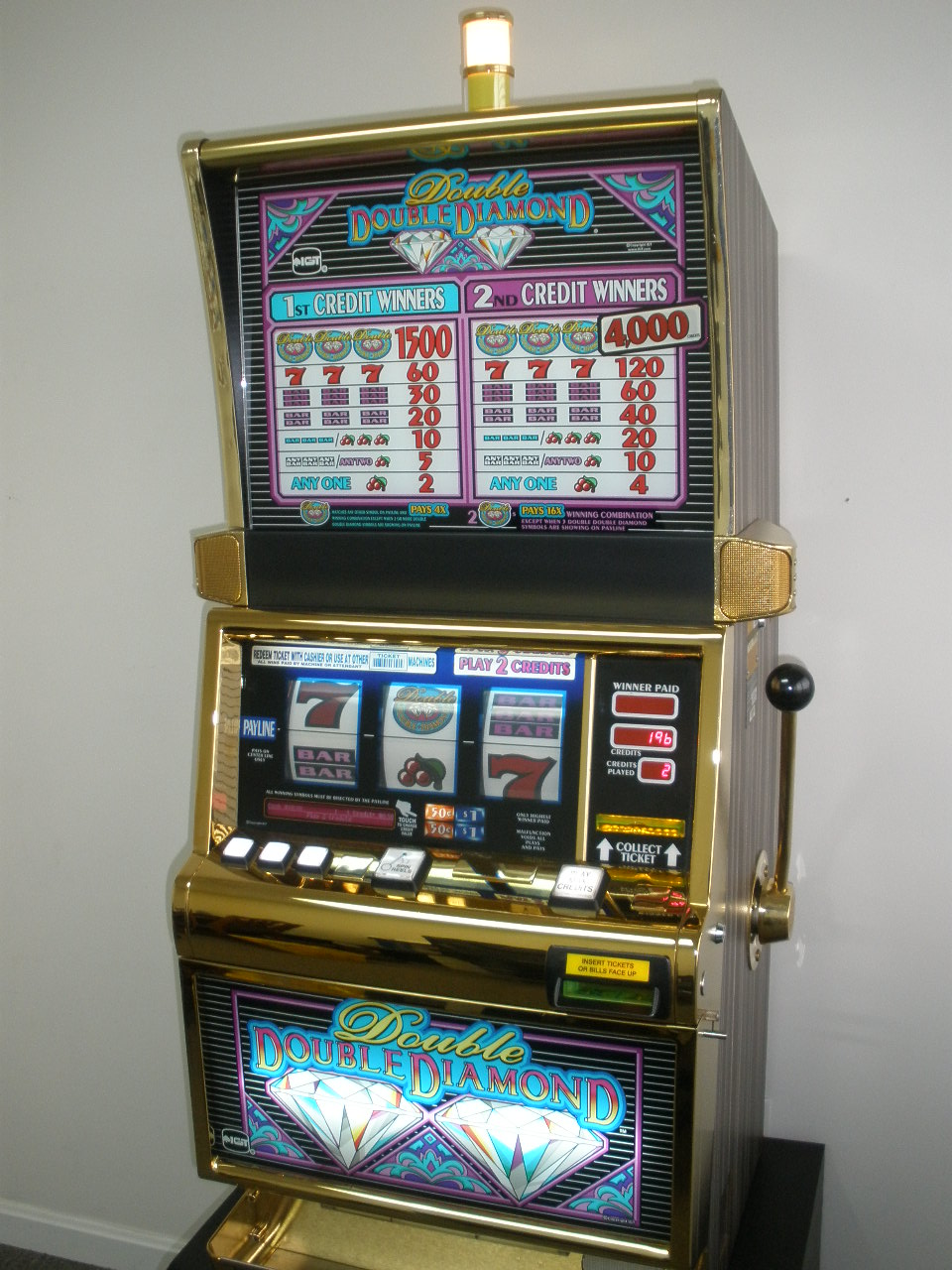 Double Diamond Slot Machine For Sale