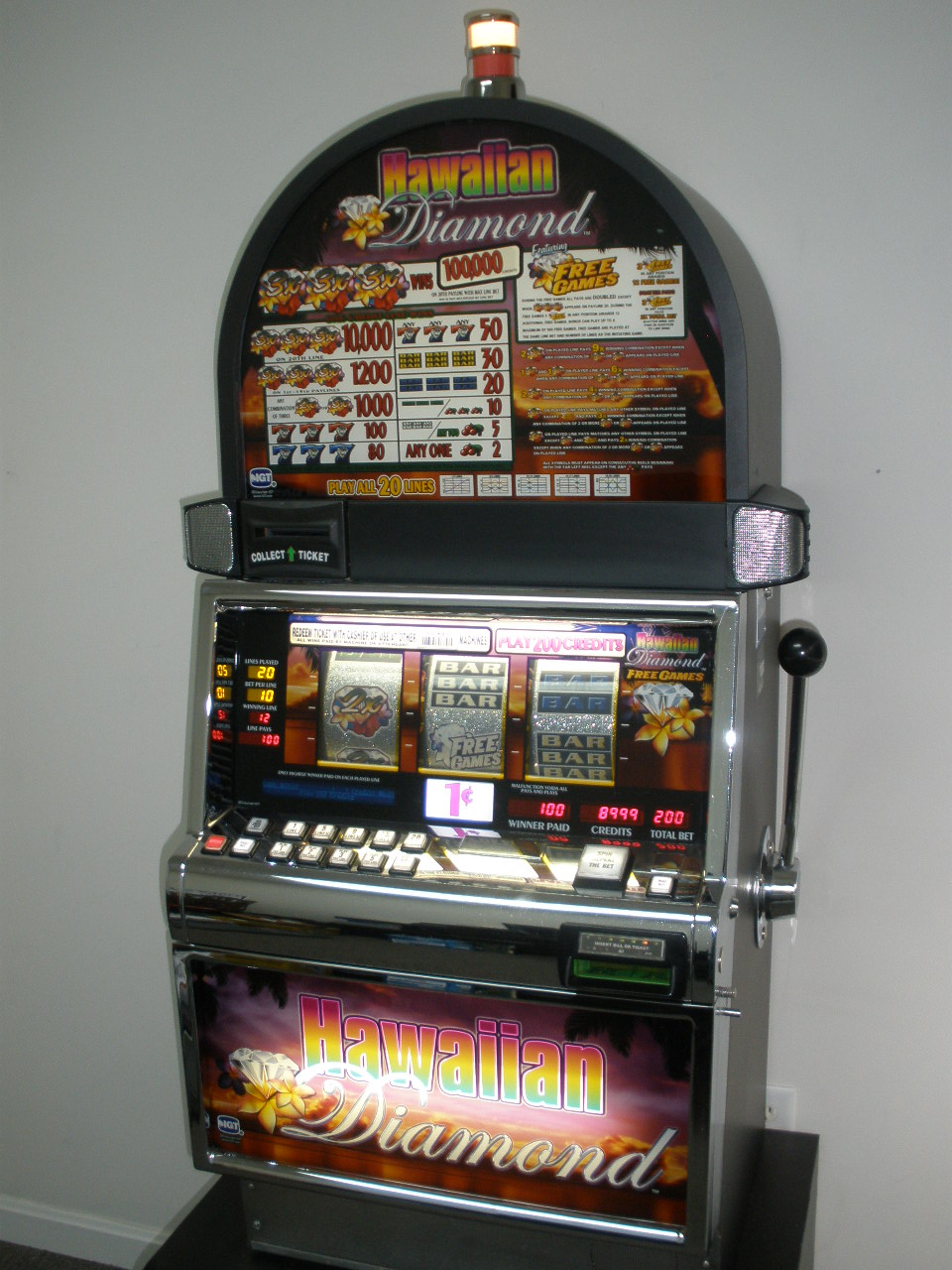 Casino machine max bet