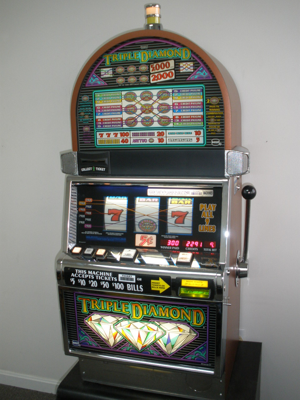 Old igt slot machine parts
