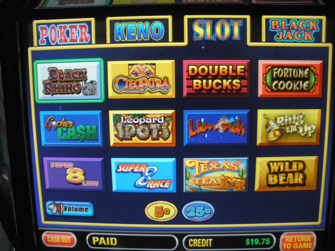 Draw Poker Slot Machine Shop Collectibles Online Daily