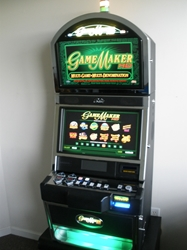 BALLY GAME MAKER HD MULTI GAME DUAL MONITOR SLOT MACHINE