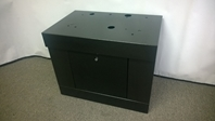 BLACK ALL SQUARE TOP SLOT MACHINE STAND - BASE WITH LOCK & KEY - SINGLE DOOR