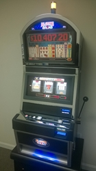 Bally Blazing 7s Dollars Progressive S9000 Slot Machine with Top Monitor