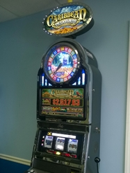 Bally Caribbean Treasures with Top Bonus Monitor and Bonus Wheel