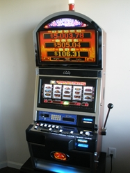 Bally Diamonds & Devils Deluxe S9000 Slot Machine with Top Bonus Monitor