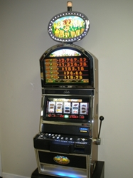 Bally Hee Haw S9000 Slot Machine with Top Bonus Monitor and Lighted Topper