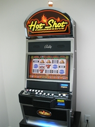 Bally Hot Shot Progressive M9000 Video Slot Machine