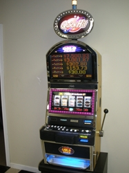 Bally Quick Hit Black Gold Wild Jackpot S9000 Slot Machine with Top Bonus Monitor and Lighted Topper
