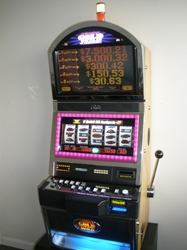 Bally Quick Hit Black Gold Wild Jackpot S9000 Slot Machine with Top Bonus Monitor