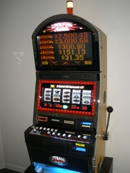Bally Quick Hit Black & White Jackpot S9000 Slot Machine with Top Bonus Monitor