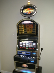 Bally Quick Hit Jackpot White Fire S9000 Slot Machine with Top Bonus Monitor with Lighted Topper