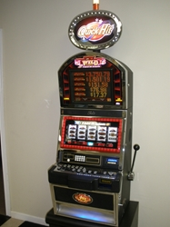 Bally Quick Hit Wild 777 Jackpot S9000 Slot Machine with Top Bonus Monitor and Lighted Topper