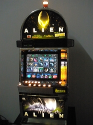 IGT ALIEN VIDEO SLOT MACHINE WITH LCD TOUCHSCREEN MONITOR