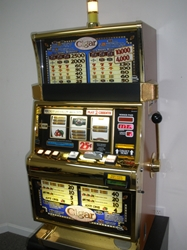 IGT CIGAR S2000 SLOT MACHINE WITH QUARTER COIN HANDLING