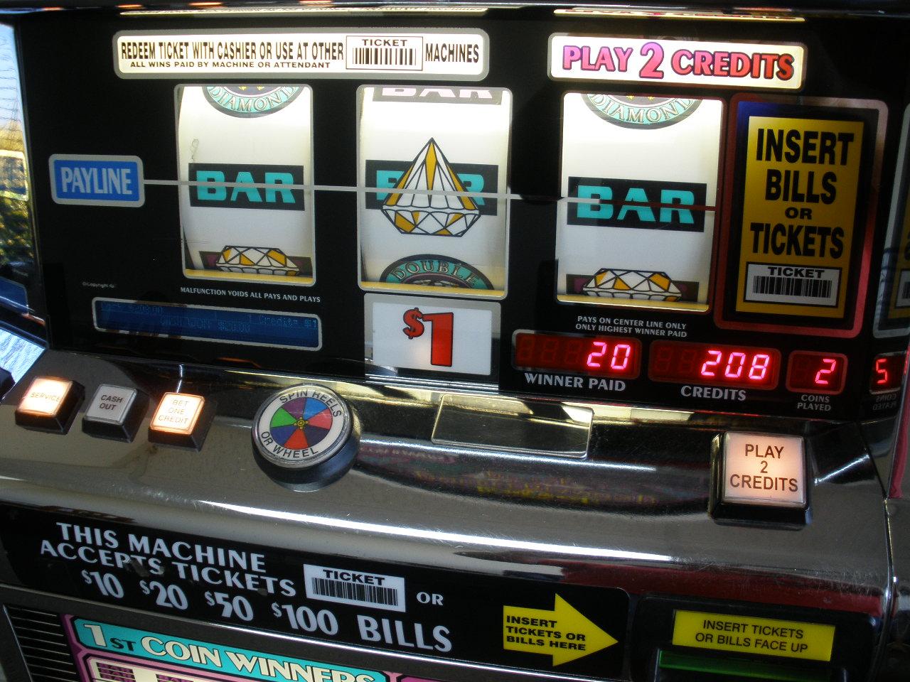 Double Diamond Deluxe Slot Machine Reset