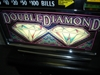 IGT DOUBLE DIAMOND S2000 QUARTER COIN HANDLING WITH LIGHTED TOPPER (FLAT TOP - HARRAH'S SLOT TOURNAMENT) -