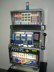 IGT DOUBLE RED, WHITE AND BLUE FIVE LINE S2000 SLOT MACHINE - FLAT TOP