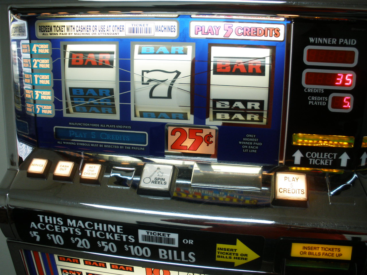 Red White And Blue Slot Machines