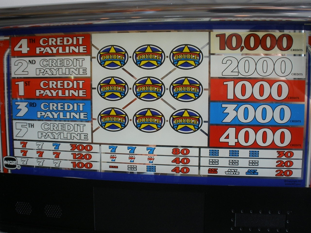 Double Red White And Blue Slot Machine