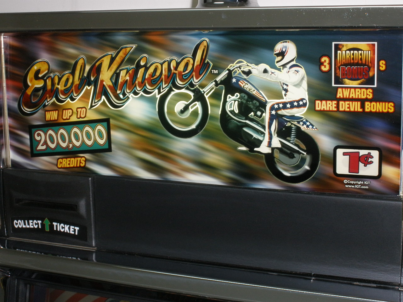 Igt evel knievel video slot machine with lcd touchscreen monitor rare