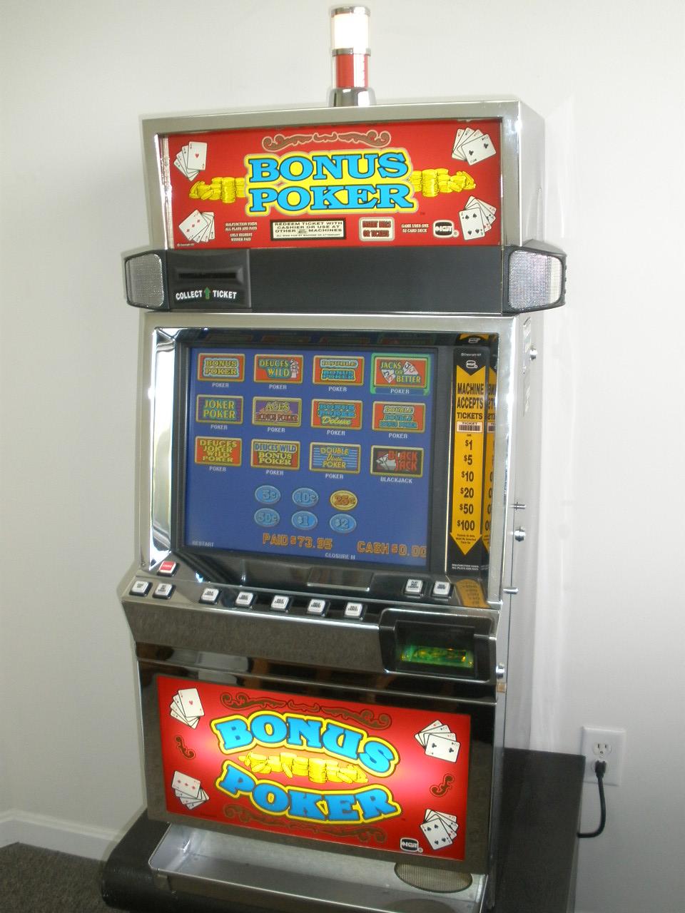 Slot Machine Video Poker