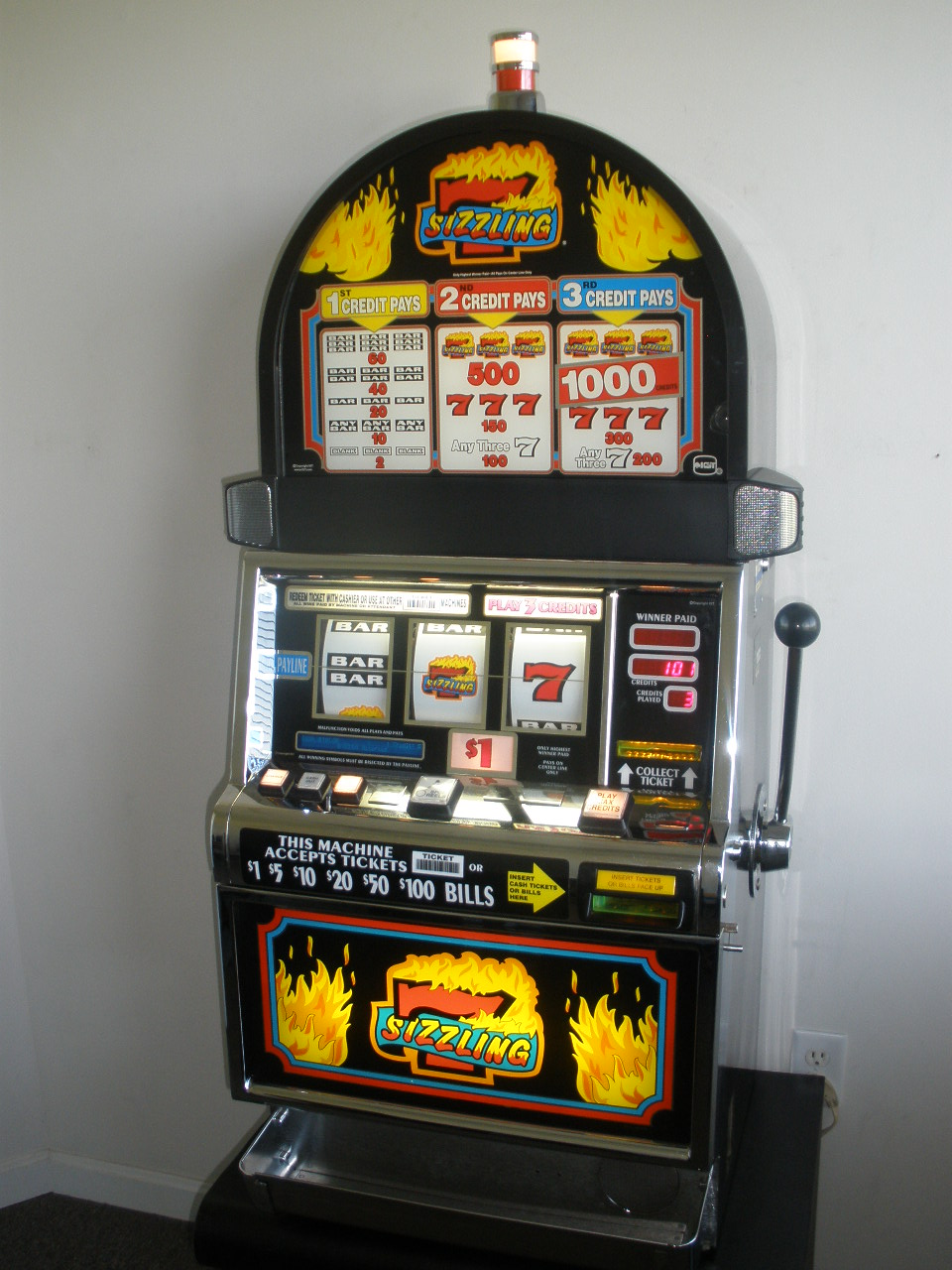 Sizzling Sevens Slot Machine For Sale