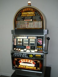 IGT SUPER TIMES PAY FREE GAMES FIVE LINE S2000 ROUND TOP SLOT MACHINE