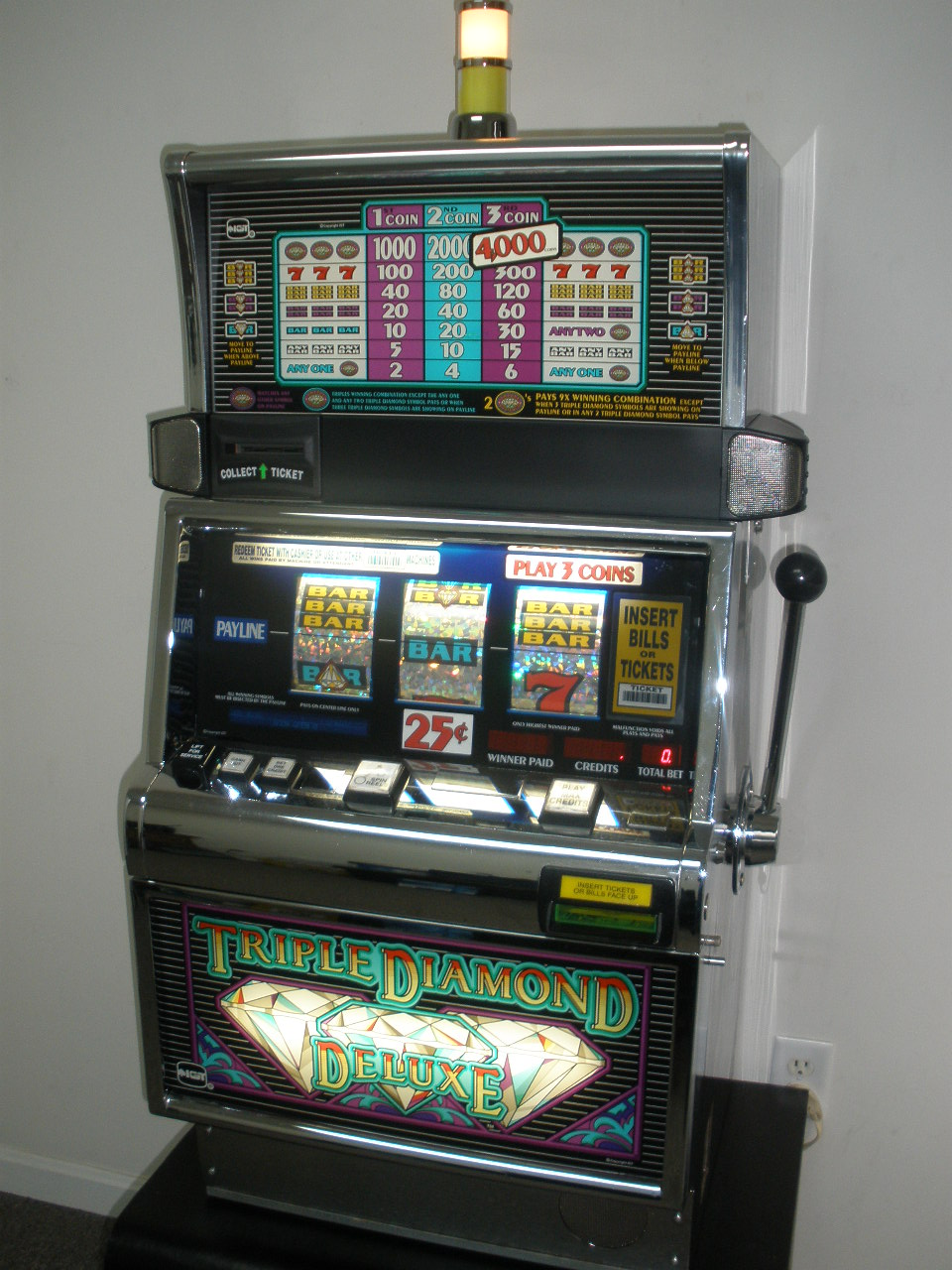 Triple Diamond Deluxe Slot Machine For Sale