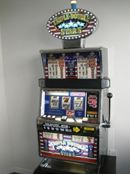 IGT TRIPLE DOUBLE STARS S2000 SLOT MACHINE WITH LIGHTED TOPPER