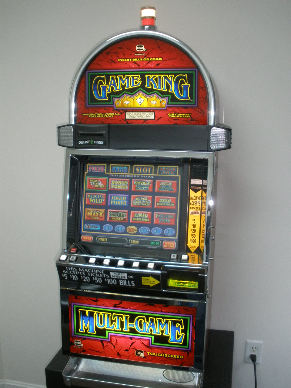 Igt Game King 6 2 Multi Game Video With Lcd Touchscreen